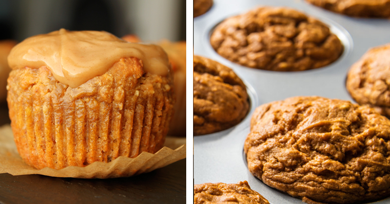 30-Min Protein-Packed Sweet Potato Muffin Recipe made with coconut flour, coconut oil and cinnamon!