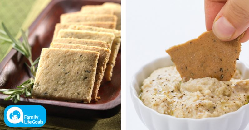 Image of Replace cancer-causing PROCESSED crackers by making your own gluten-free rosemary kind