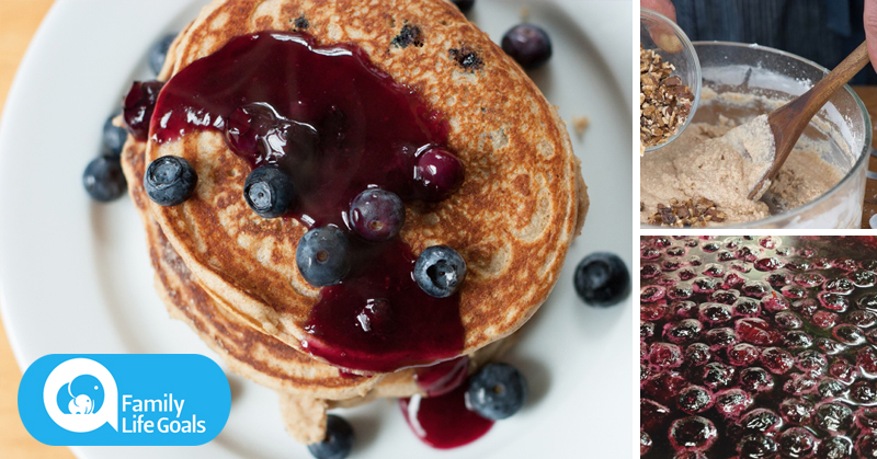 Gluten-free, dairy-free mouthwatering blueberry pancakes PACKED with antioxidants and protein