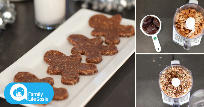 Raw Gingerbread Cookies with real ginger, dates, lemon and coconut