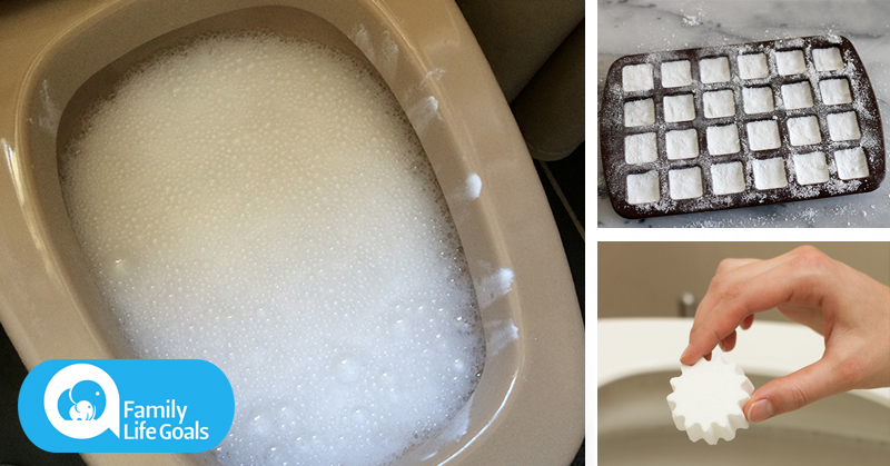 You will never have to scrub a toilet AGAIN if you make these DIY toilet cleaning bombs