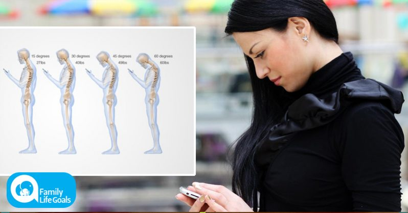 Image of Looking down at your phone is like having a 60-pound weight on your neck, says spine surgeon