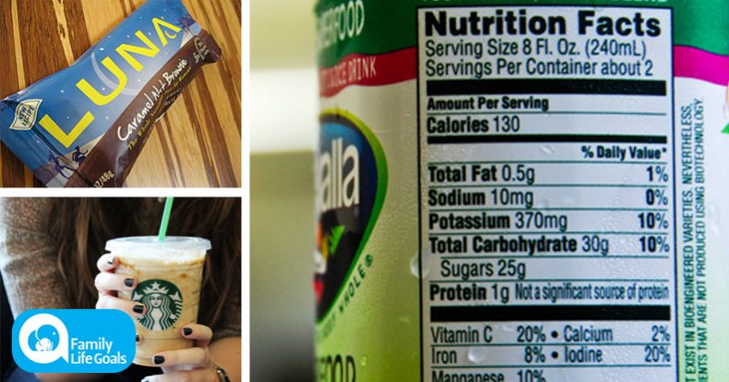 "Image of 9 ""healthy"" foods you would NEVER guess have more sugar than a Krispy Kreme donut"