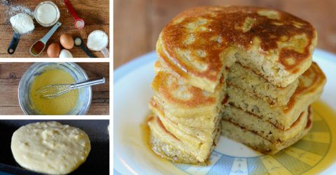 Image of The Perfect Gluten-Free Recipe for light, thick, fluffy pancakes with coconut oil and honey