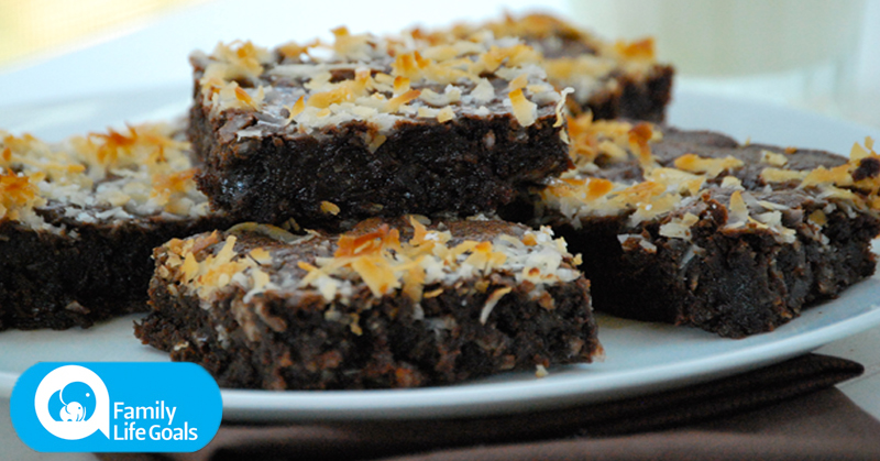 Gluten-free coconut fudge brownies that are everything a brownie should be