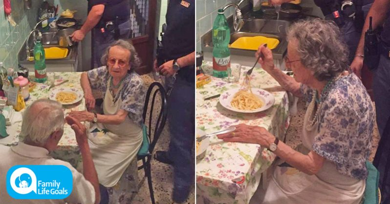Image of Police hear a lonely elderly couple crying in their apartment and end up cooking dinner for them