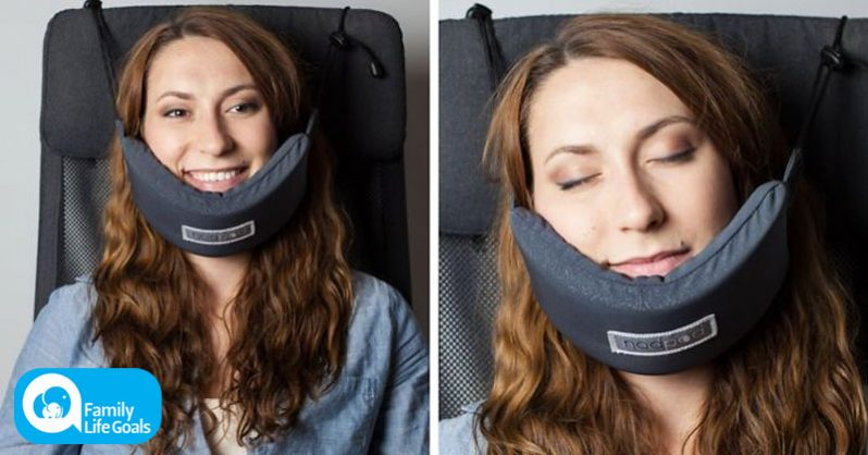 Image of Someone finally invented a head hammock so you could fall asleep on a plane