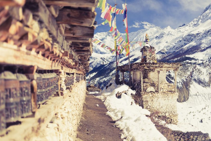 prayer wheels himalaya