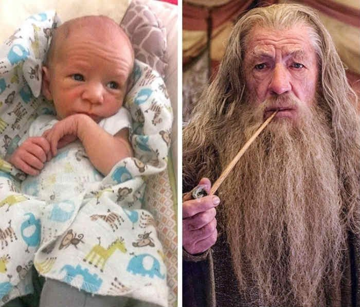 gandalf baby lookalike