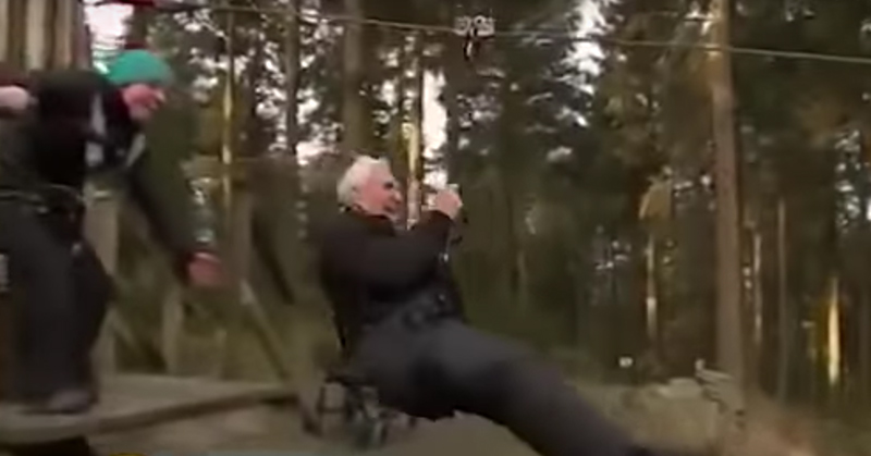 106 year old great great grandfather breaks zip line world record