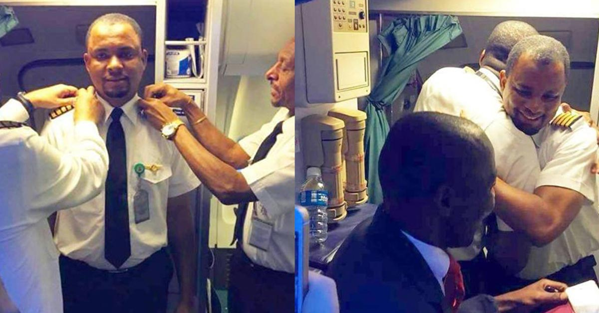 24 years later, this aircraft cleaner becomes a pilot