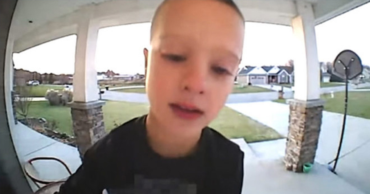 Boy Calls His Father Through 'Emergency' Doorbell Camera, Leaves Dad Laughing Out Loud