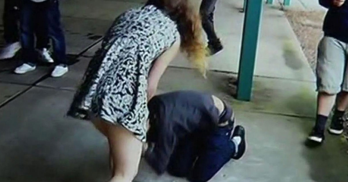 Boy Bullies High School Girl, Unfortunately For Him, She's Trained In Self-Defense