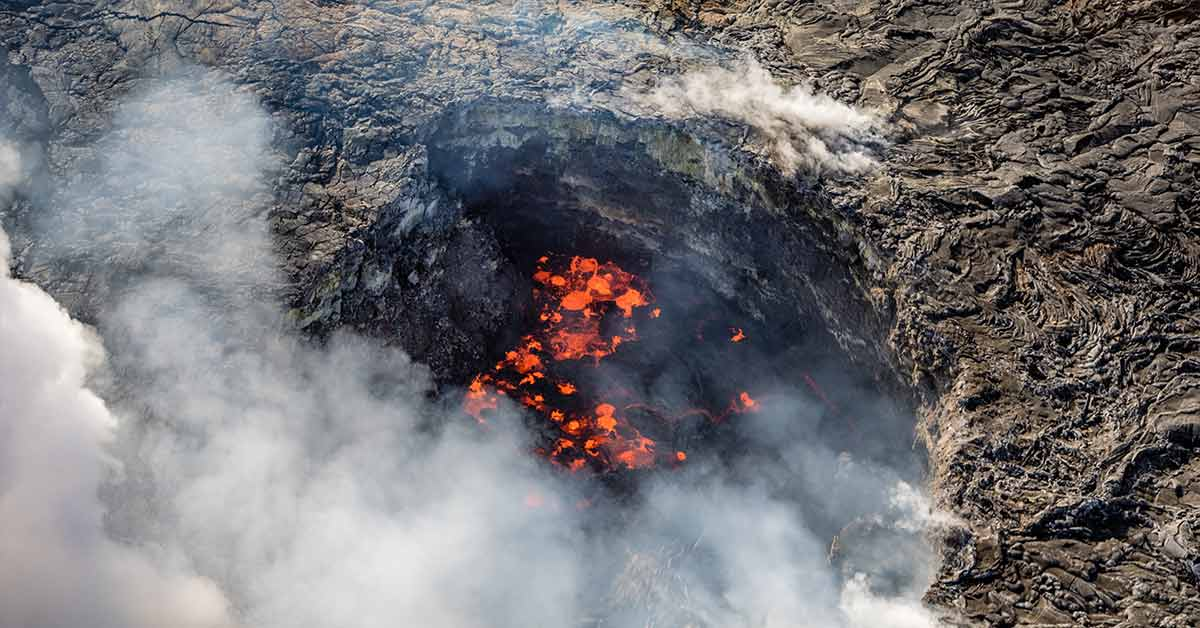 Man falls 70 feet into the caldera of Hawaiian volcano after crossing safety railing