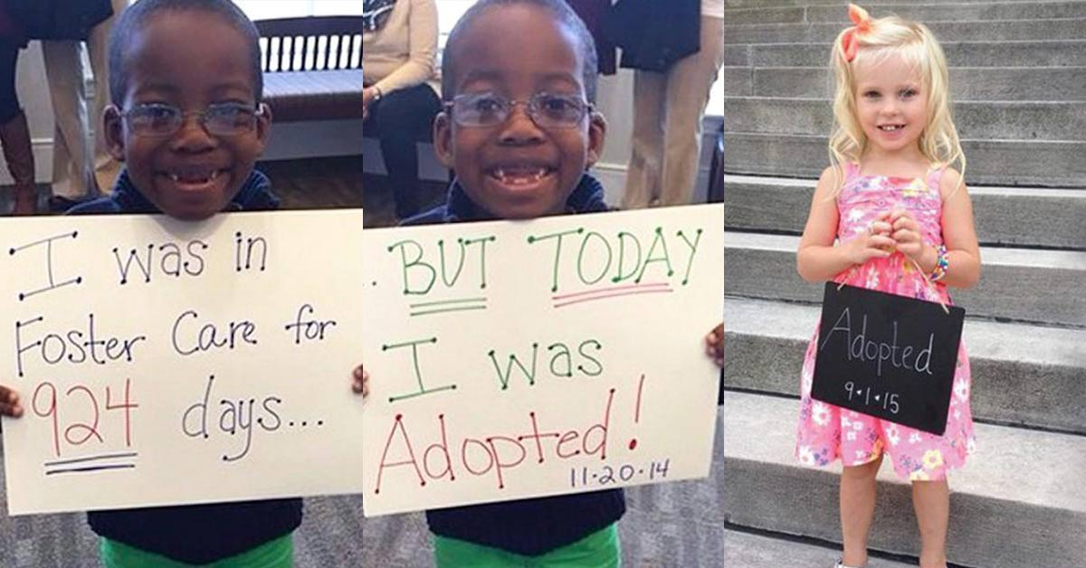 20 adorable photos of newly adopted children that would surely make your day