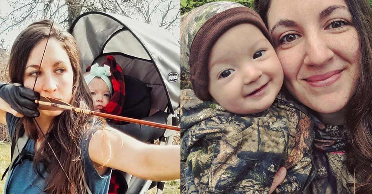 Mom Goes Native: Hunts and Kills for Food Carrying Her Baby on Her Back and Says She Won't Stop