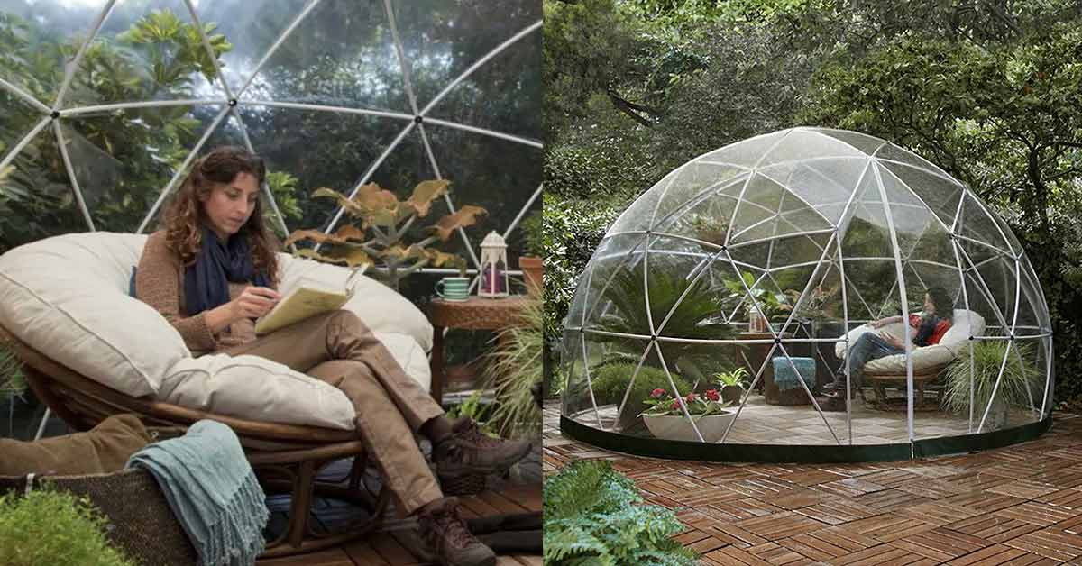 Amazon Is Selling a Garden Dome So You Can Glamp in Your Backyard