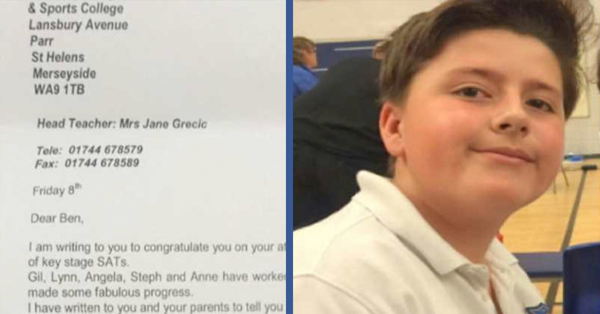 Teacher Sends Inspiring Letter to the Parents of an Autistic Boy Who Failed His Exams