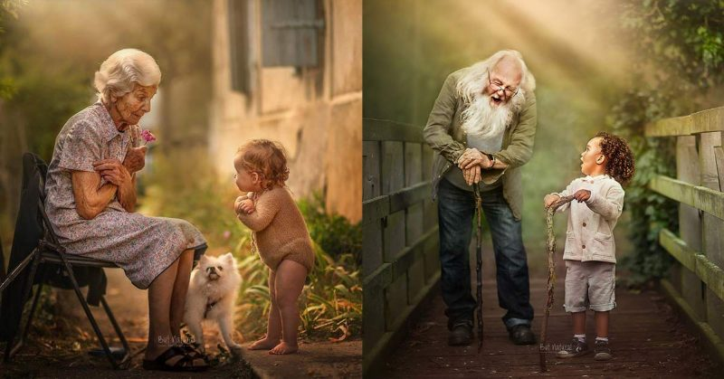 Photographer captures little children and their grandparents and the pictures are beyond amazing
