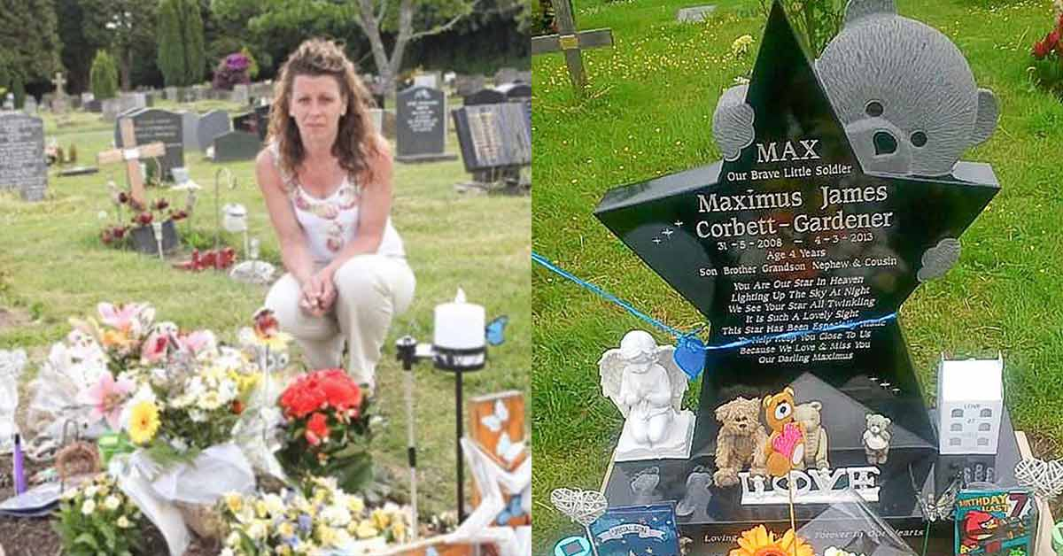 Mother heartbroken after her deceased 4-year-old's headstone was removed because someone complained