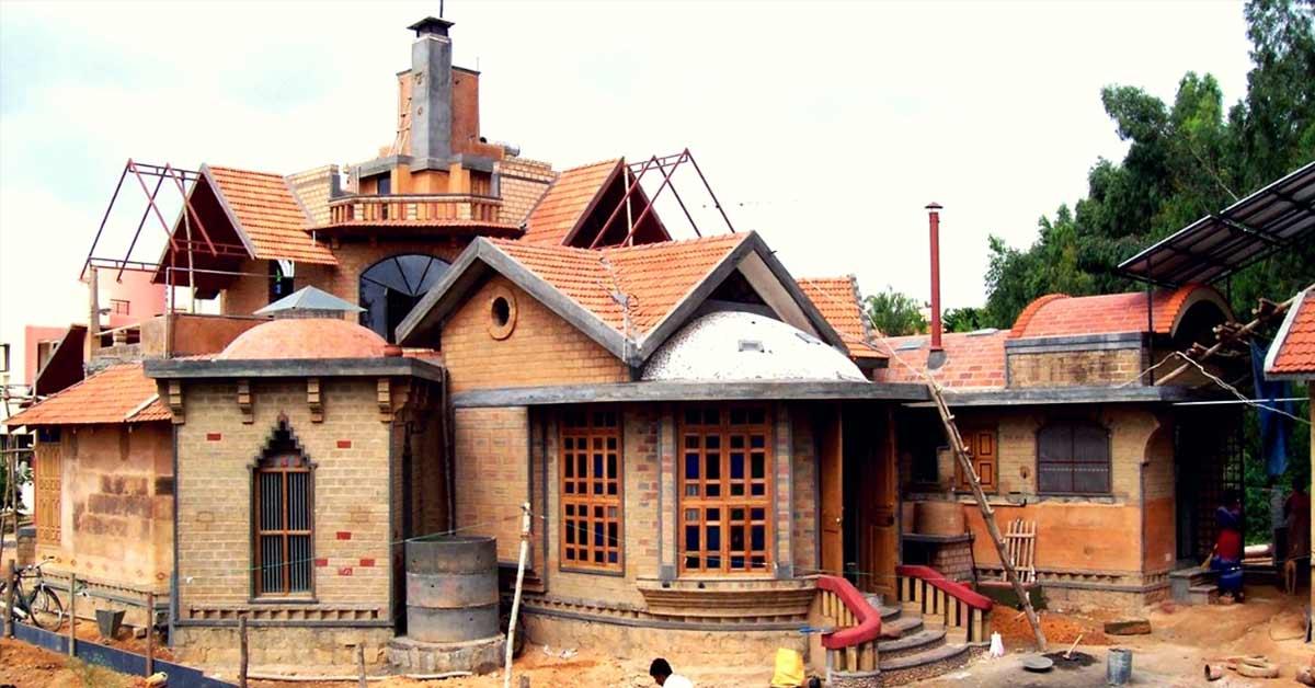 This sustainable mudhouse in Bengaluru Harvests Rainwater, Solar Energy & Organic Food