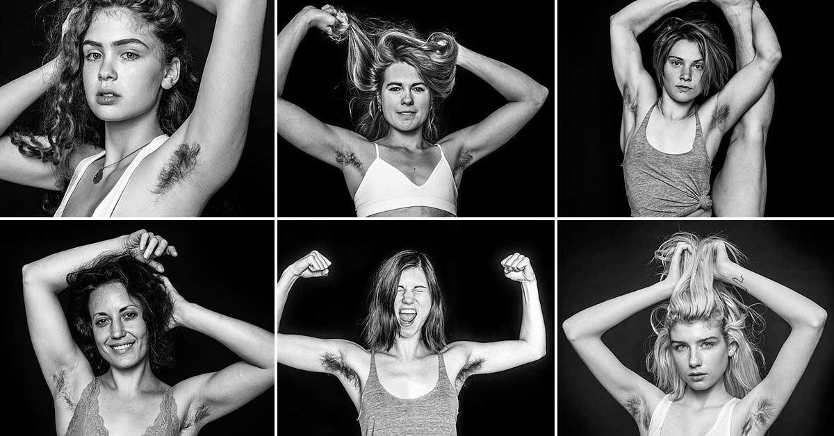 Women who do not shave armpits are featured in a stunning photo series