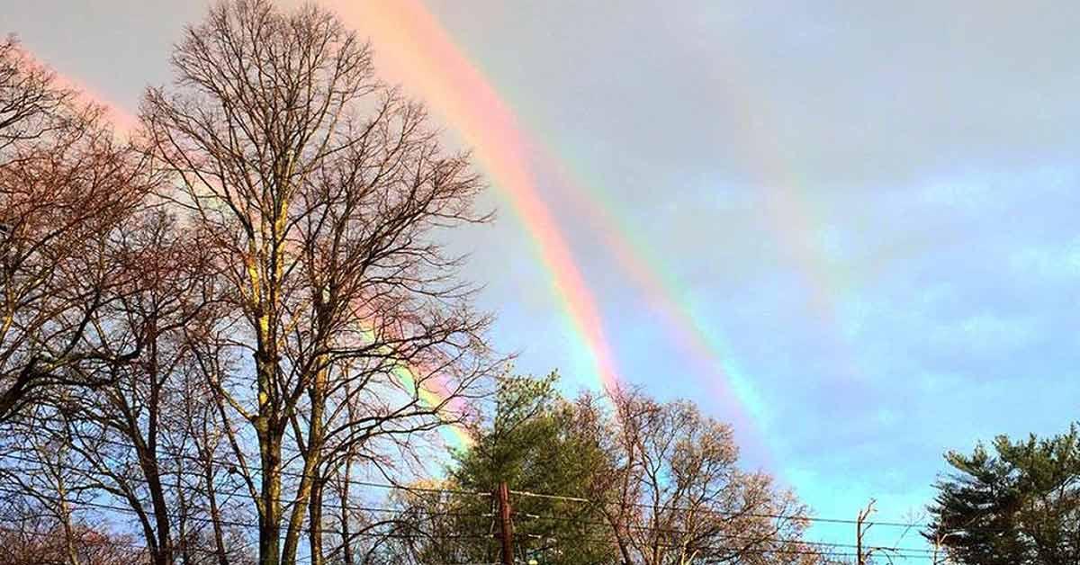 Woman Captures Extremely Rare Quadruple Rainbow Gracing the New York Horizon