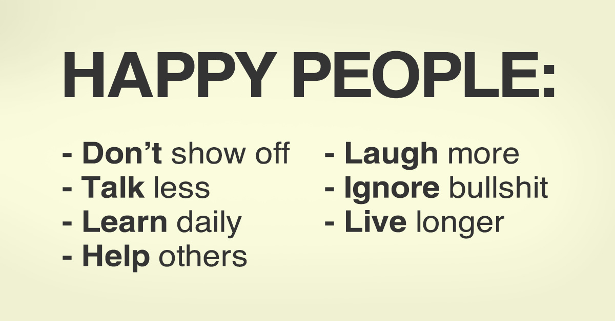 11 Fundamentals That Happy People Follow