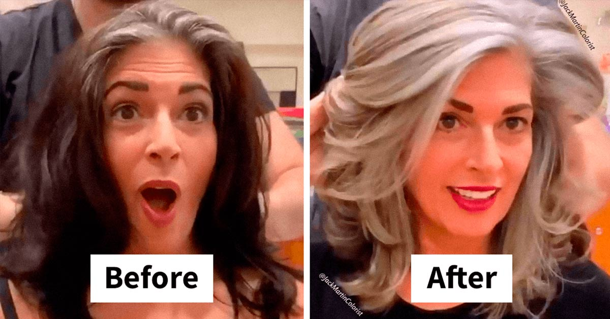 This Hairdresser Helps Clients Embrace Their Gray Roots by Transforming Their Hair into Silver Crowns