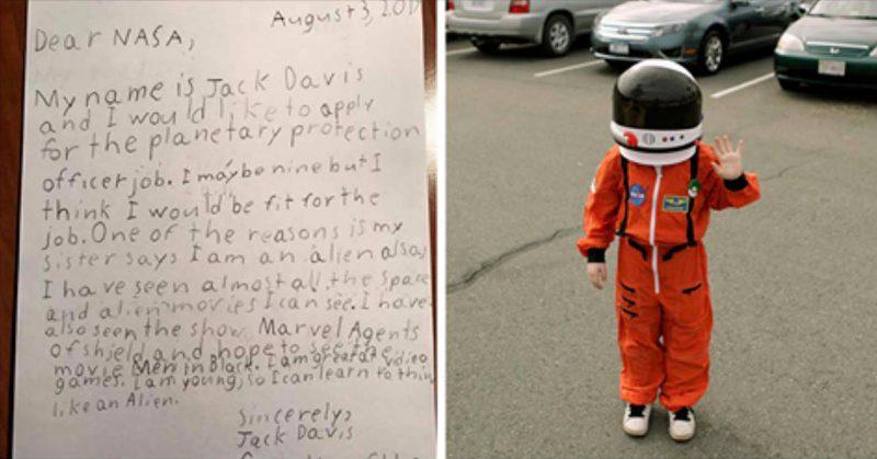 9-Year-Old Applies for Job at NASA, And Here's how NASA Responds