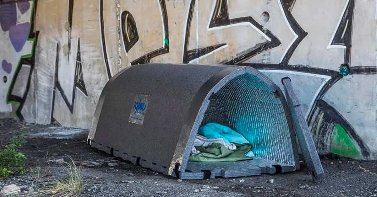 French Engineer Designs Minimalist Shelters That Retain Heat during Winter for The Homeless