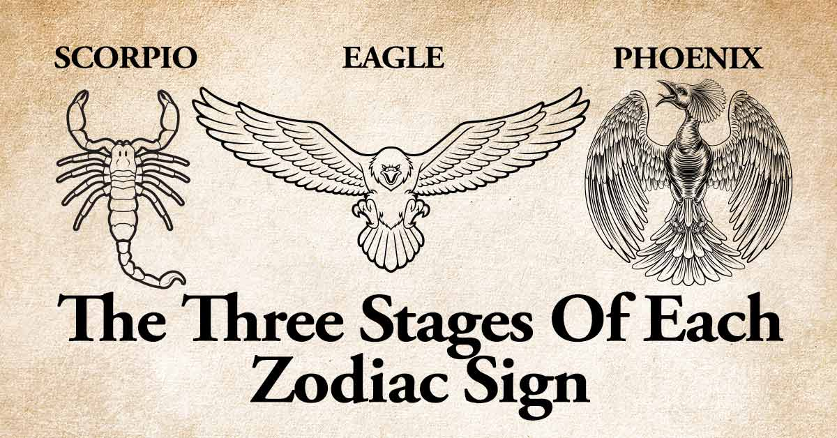 The Three Stages of Each Zodiac Sign That Most People Don't Know About