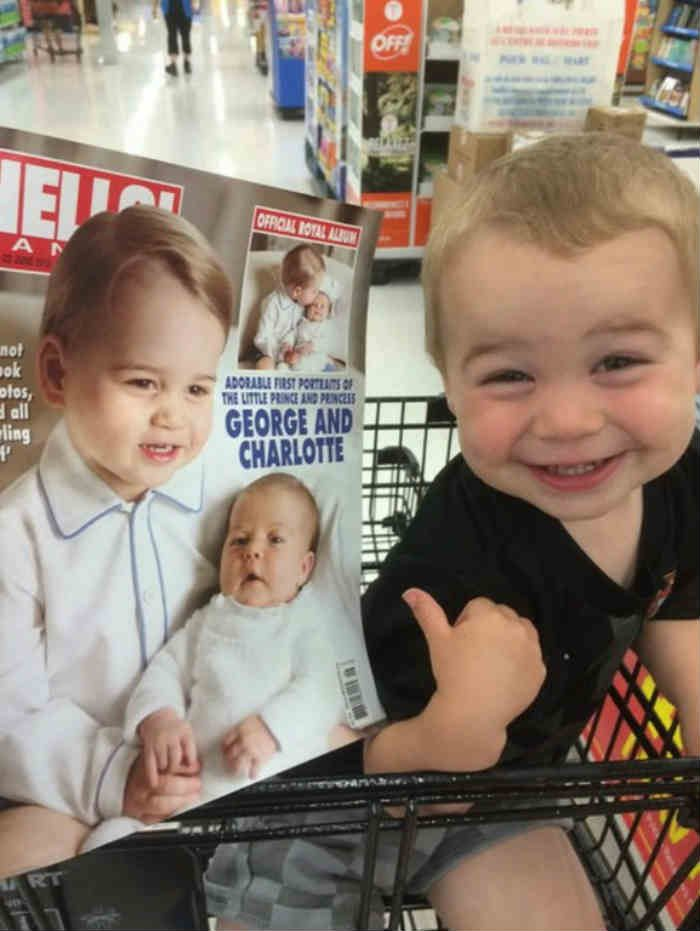 prince george lookalike baby