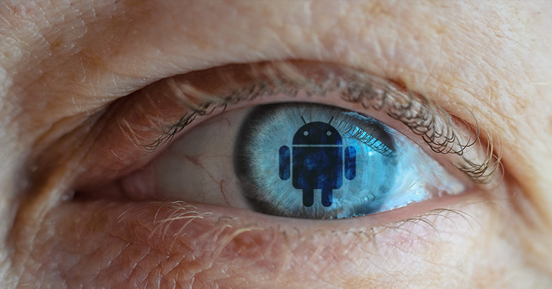 google android blue eye